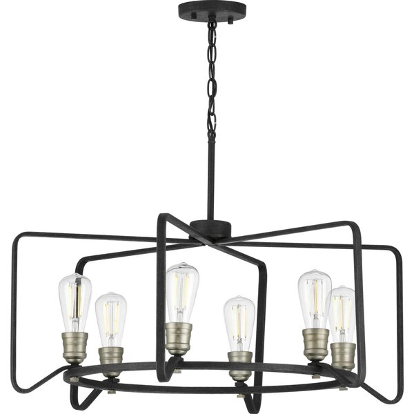 Fanning 6-Light Candle Style Geometric Chandelier By Williston Forge