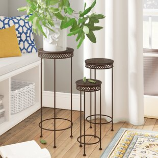 Best Price Charity Round Iron 3 Piece Nesting Plant Stand Set By Fleur De Lis Living