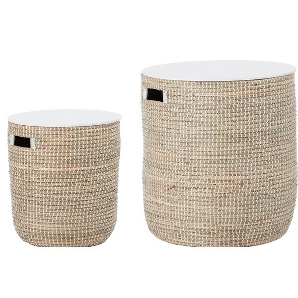 Knap Round Seagrass 2 Piece Tables by Bungalow Rose Bungalow Rose