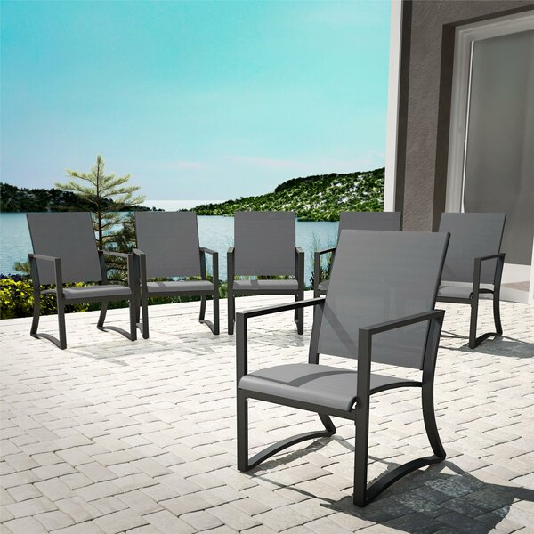 Macleod Patio Dining Chair (Set of 6) by Ebern Designs