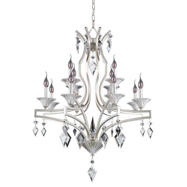 Florence 12-Light Candle Style Tiered Chandelier By Allegri By Kalco Lighting