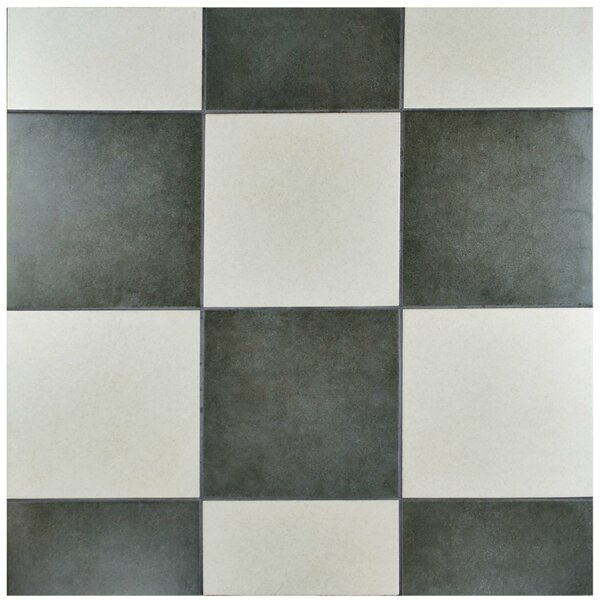 Annata 9.5 x 9.5 Porcelain Field Tile in Blanco by EliteTile