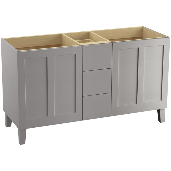 Poplin™ 60 Vanity with Furniture Legs, 2 Doors and 3 Drawers by Kohler