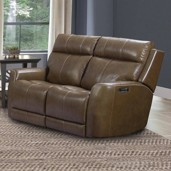 Ayah Leather Reclining Loveseat By Latitude Run