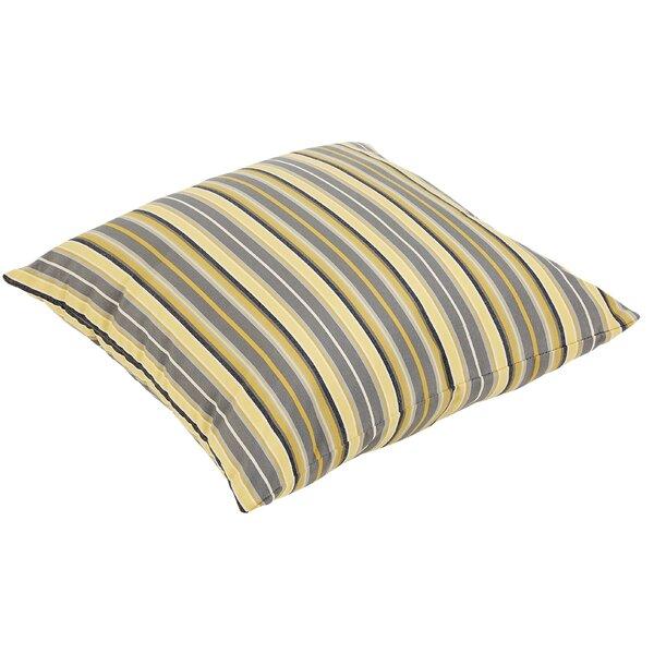 Delacruz Sunbrella Knife Edge Square Indoor/Outdoor Floor Pillow