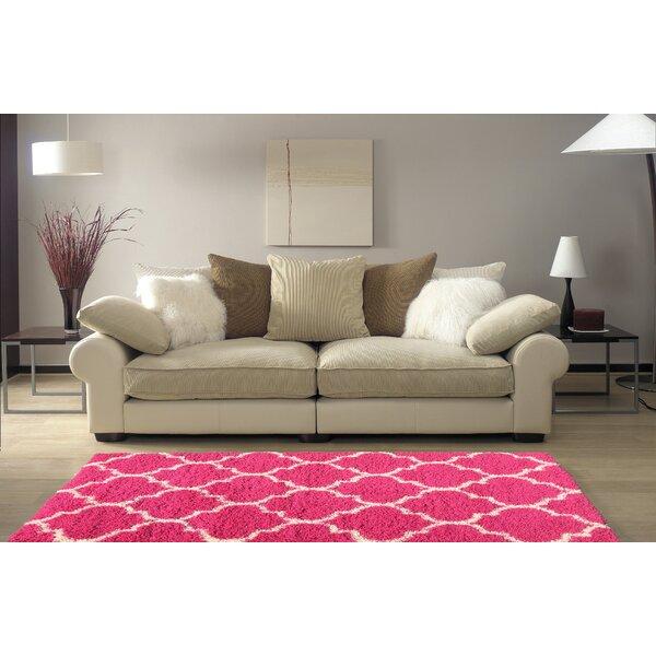 Rishi Shag Trellis Pink Area Rug by Winston Porter