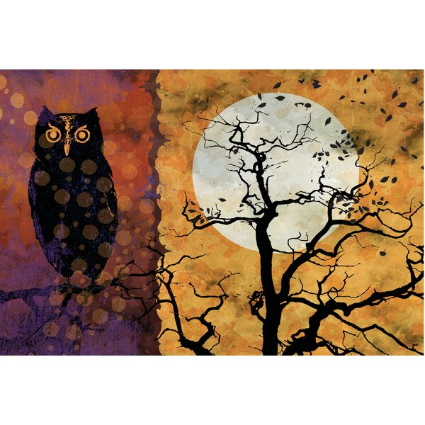 Owl and Moon Doormat by The Holiday Aisle
