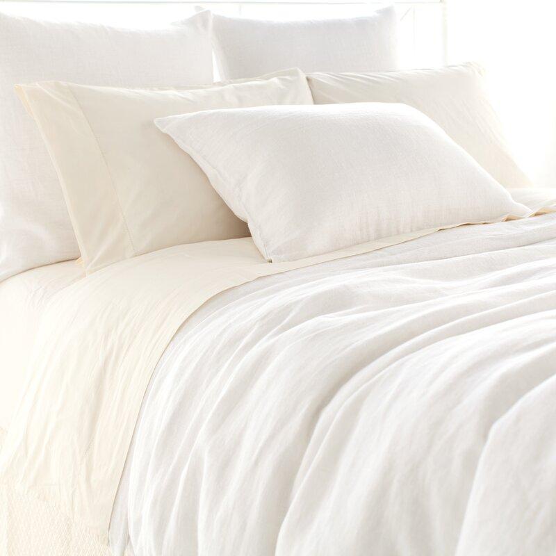 Stone Washed White Linen Duvet and Bedding #whitelinen #linenduvet #linenbedding