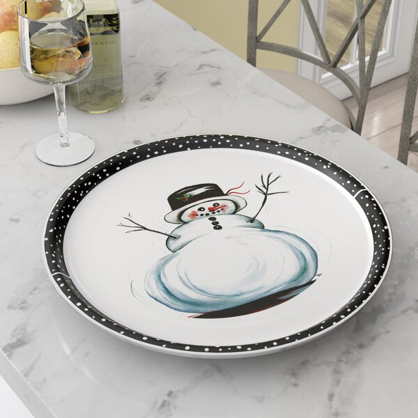 Dube Snowman Platter by Red Barrel Studio