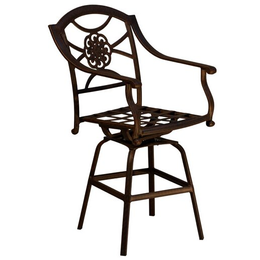Dover Patio Bar Stool with Cushion by California Outdoor Designs