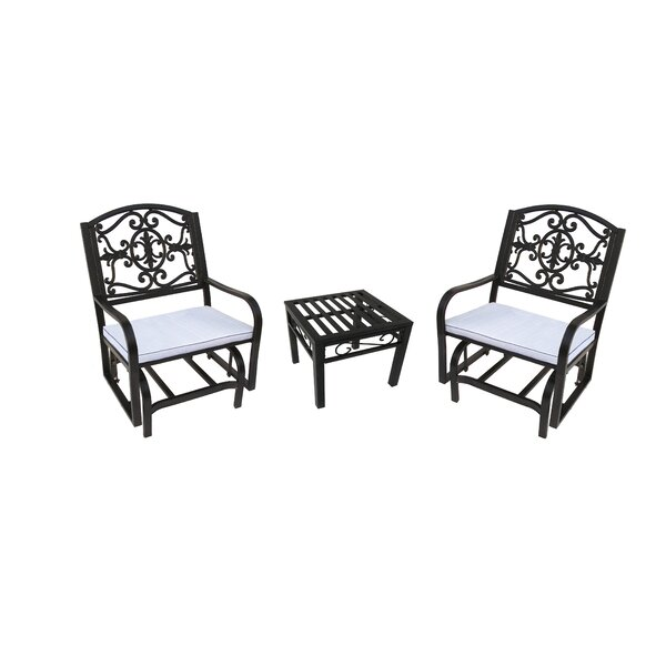 Lakeville 3 Piece Conversation Set with Cushions by Oakland Living