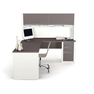 Deals Karla L-Shape Desk Office Suite with Hutch By Latitude Run