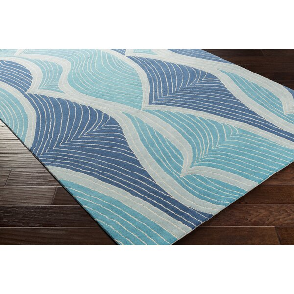 Cleo Hand-Tufted Blue Area Rug by Viv + Rae