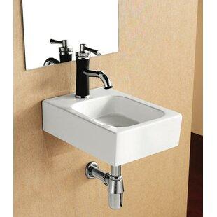 Looking for Porcelain Ceramic 12 Wall Mount Bathroom Sink By Elanti