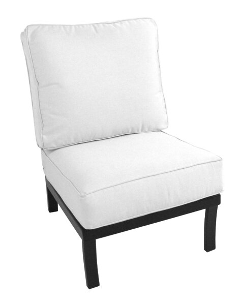 Maddux Armless Chair with Cushion by Meadowcraft