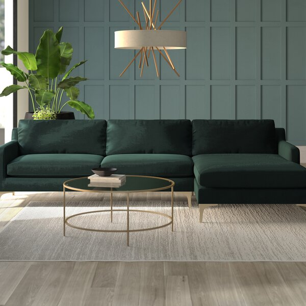 Shop A Great Selection Of Farleigh Right Hand Facing Hungerford Sectional by Mercury Row by Mercury Row