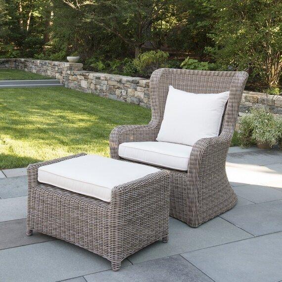 Sag Harbor Patio Chair with Sunbrella Cushions by Kingsley Bate