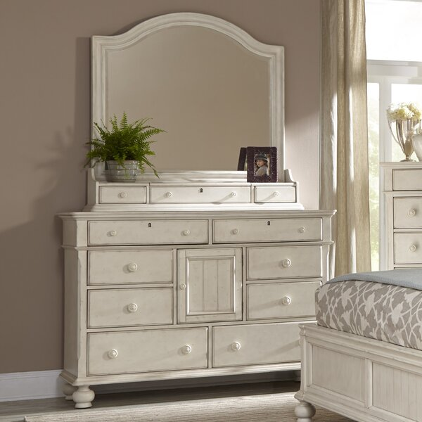Newport 11 Drawer Double Dresser with Mirror by American Woodcrafters