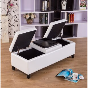 Compare prices Eleesha Storage Ottoman By Warehouse of Tiffany