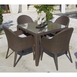 Jeremy 5 Piece Dining Set with Cushions By Mistana