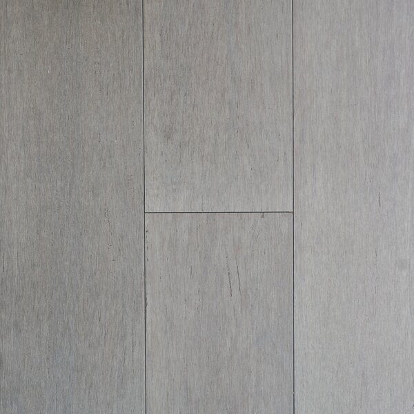 4-1/2  Solid-Lock Strandwoven Bamboo Flooring in Pewter by ECOfusion Flooring