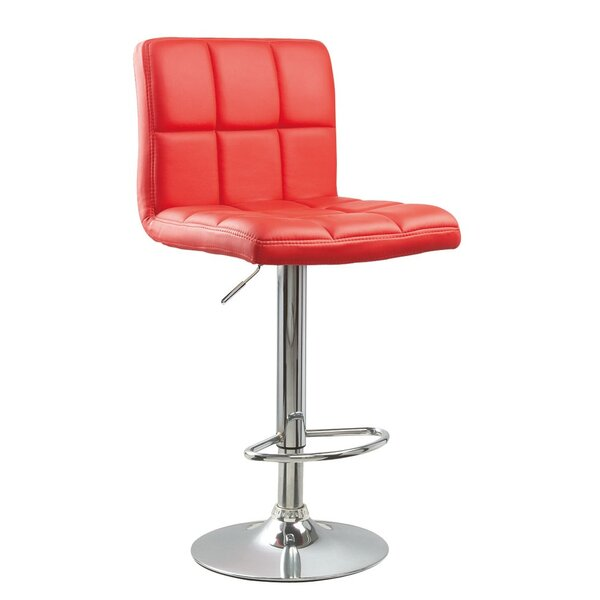 Winford Adjustable Height Swivel Bar Stool (Set of