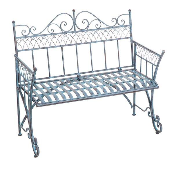 Trudy Victorian Metal Garden Bench by Fleur De Lis Living