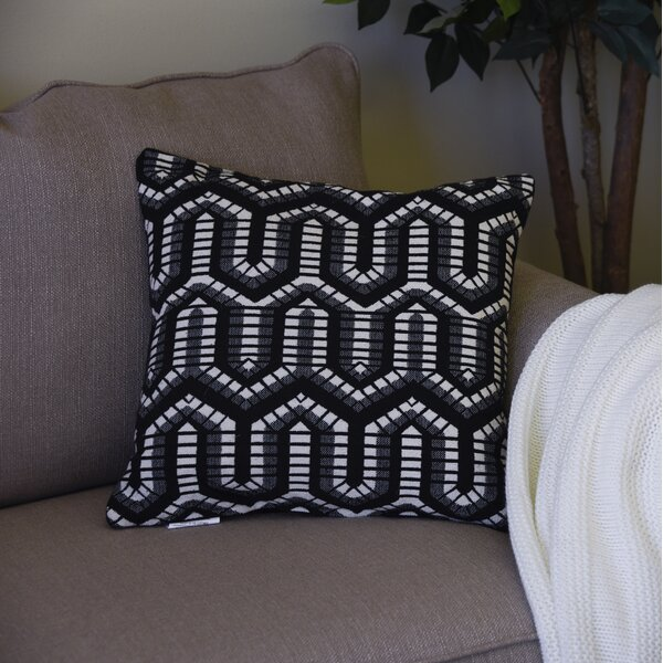 Mccormack Well Geometric Throw Pillow by Wrought Studio