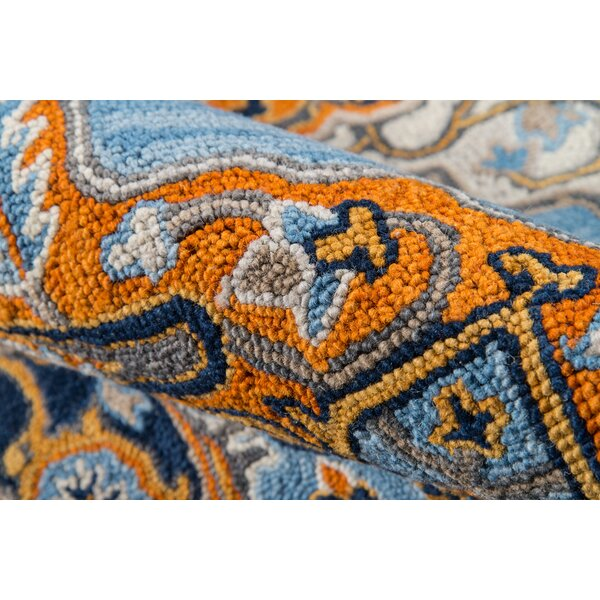 Lancaster Hand-Tufted Wool Blue Area Rug by World Menagerie
