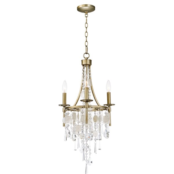 Pinheiro 3-Light Candle Style Wagon Wheel Chandelier By Bungalow Rose