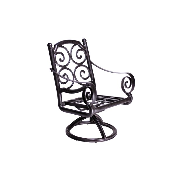 Westhampton Swivel Patio Dining Chair (Set of 2) by Fleur De Lis Living