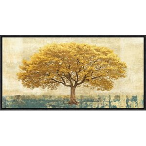 'Gilded Oak' by Leonardo Bacci Framed Painting Print on Canvas by Global Gallery