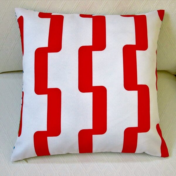 Geometric Stripe Indoor/Outdoor Pillow Cover (Set of 2) by Artisan Pillows