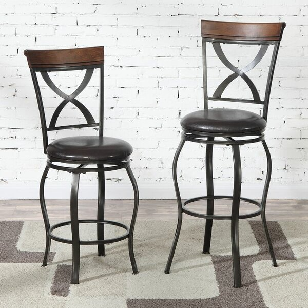 Montagu 29 Swivel Bar Stool (Set of 2) by Darby Home Co
