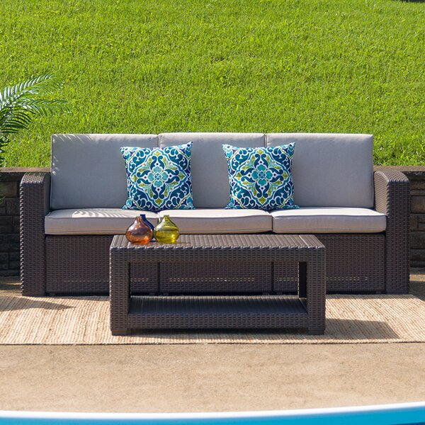 Telvin 2 Piece Rattan Sofa Seating Group with Cushions by Latitude Run