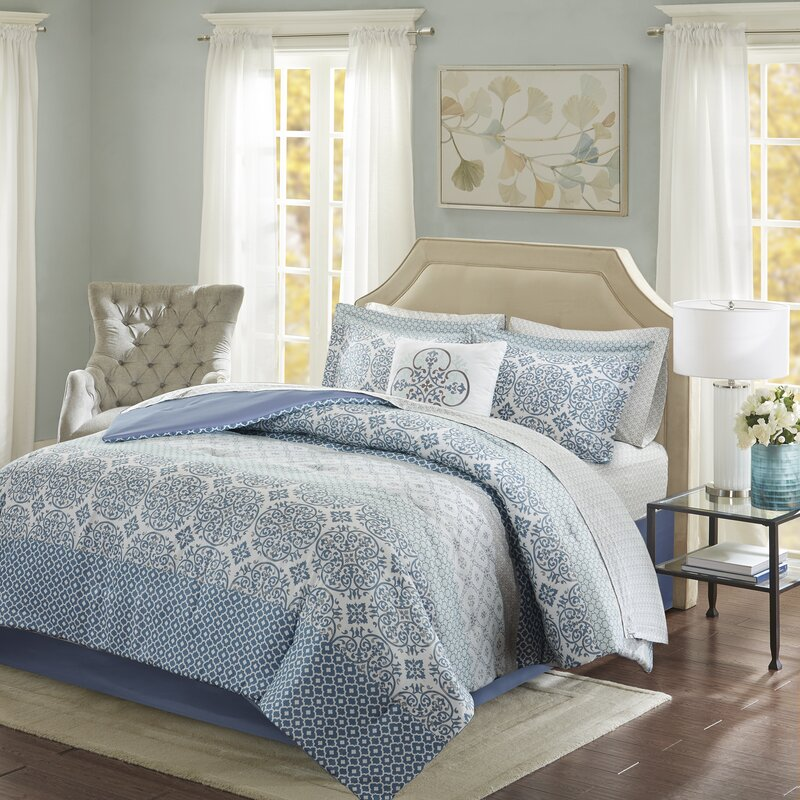 Incroyable Wedgewood Complete Comforter And Cotton Sheet Set
