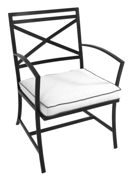 Maddux Patio Dining Chair with Cushion by Meadowcraft