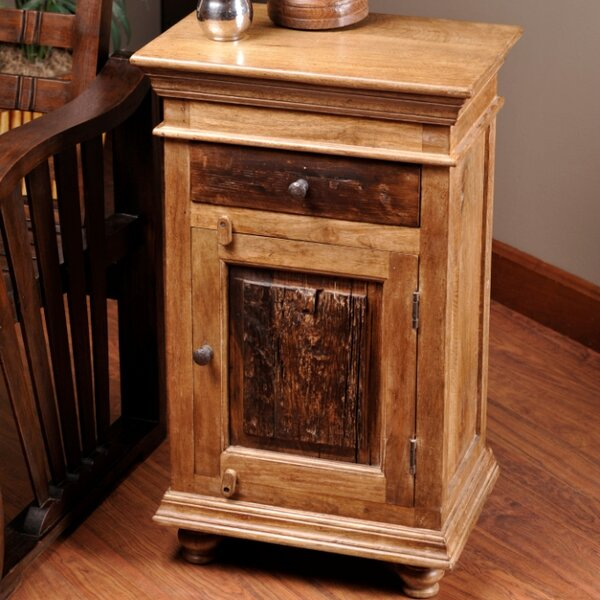 Bentonite Rustic End Table by Loon Peak