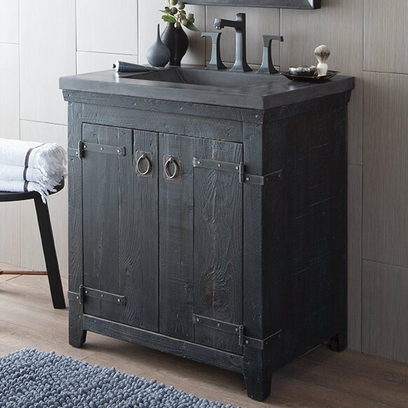 Americana 30.5 Anvil Vanity Set with Integrated Sink by Native Trails, Inc.