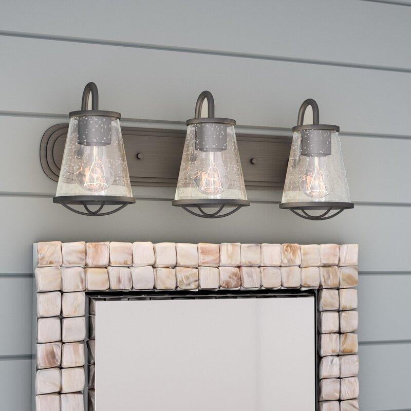 Beachcrest home regan 3 light vanity light reviews wayfair regan 3 light vanity light aloadofball Choice Image
