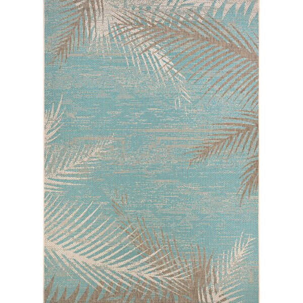 Beachcrest Home Odilia Tropical Palms Turquoise/Gray/Ivory Indoor/Outdoor  Area Rug U0026 Reviews | Wayfair
