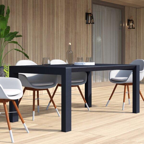 Curnutt Extendable Plastic Dining Table by Mercury Row