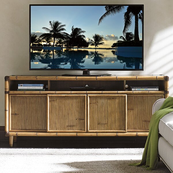 Twin Palms Solid Wood TV Stand For TVs Up To 78