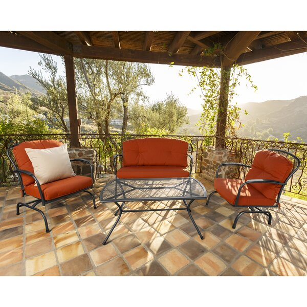 Avera 4 Piece Sunbrella Sofa Seating Group with Cushion by Darby Home Co