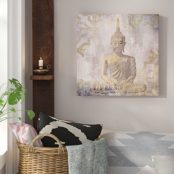 Buddha In Peace Graphic Art on Canvas by Bungalow Rose