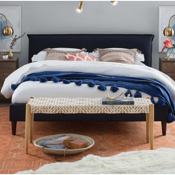 Avaline Upholstered Platform Bed By Red Barrel Studio by Red Barrel Studio Cool