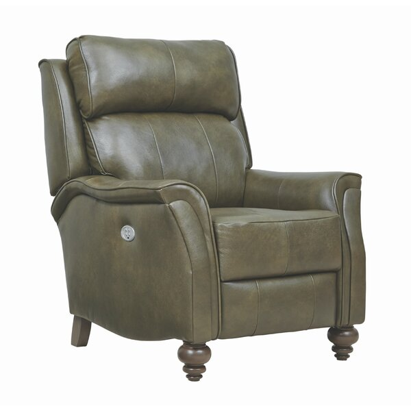 Easton Headrest Hi-Leg Leather Power Recliner by Southern Motion Southern Motion