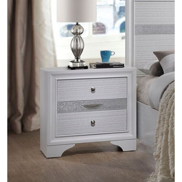 Wotring Contemporary 3 Drawer Nightstand by House of Hampton