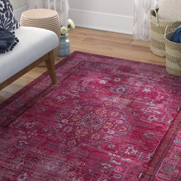 Privette Red Area Rug by Bungalow Rose