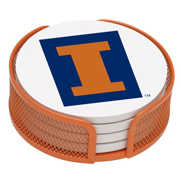 5 Piece University of Illinois Collegiate Coaster Gift Set by Thirstystone